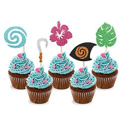 Moana Inspired Cupcake Toppers Birthday Party Decoration Boa
