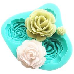Pard 4 Size Roses Flower Silicone Cake Mold Chocolate Sugarc