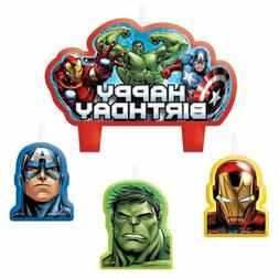 Party Time Avengers Molded Mini Character Birthday Candle Se
