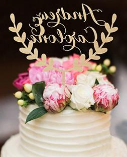 Personalized Wedding Cake Toppers Rustic Bride and Groom Nam