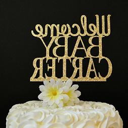 Welcome Baby Cake Topper Personalized Baby Shower Cake