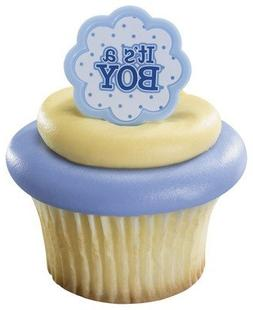 It's a Boy Blue Baby Shower Cupcake Rings