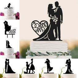 Acrylic Mr&Mrs Bride And Groom Love Cake Topper Party Favors