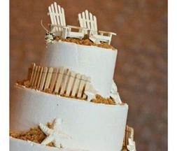 Adirondack Wood Chairs and Fences Cake Toppers Cake Decorati