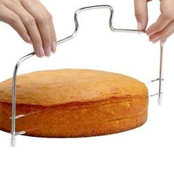 Adjustable Wire Cake Slicer Cutter Leveller Decorating Bread