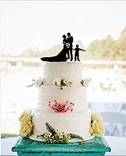 Anniversary Wedding Cake Toppers Bride and Groom Flowers wit