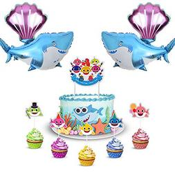 Baby Cute Shark Party Decorations Includes 1 Big Cake topper