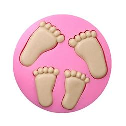 SaSa Design Baby Feet Silicone Mold,Soap Clay Fimo Chocolate