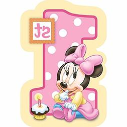 BABY MINNIE MOUSE First Birthday Birthday Party Edible Frost