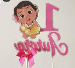 Baby Moana girl personalized Cake Topper, party decoration,
