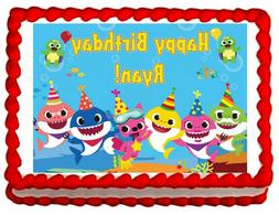 Baby Shark party edible cake image cake topper frosting shee