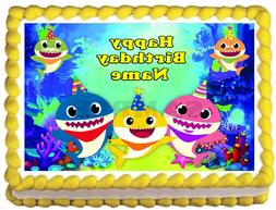 BABY SHARK Party Edible cake topper image decoration