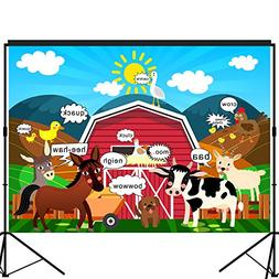 musykrafties Barn Farm Animals Party Backdrop Large Banner D