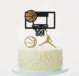 Basketball Cake Toppers Cupcake Toppers Orange Gold Black Se