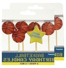 Amscan Basketball Dream Birthday Party Cake Topper Candle Se