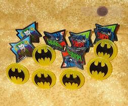 Batman,Pow-Whooshhh,Cupcake Party Rings,Toppers,DecoPac,Mult