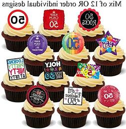 12 x 50th Birthday 50 Fifty 12 Design Mix - Fun Novelty Birt
