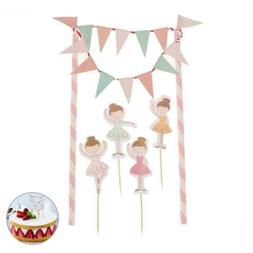 Tinksky Birthday Cake Bunting Banner Toppers Wrappers Kit De
