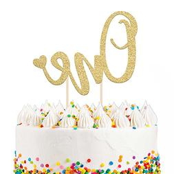 "1st Birthday Cake Topper Decoration ONE - 6.25"" x 4.25"" Firs"