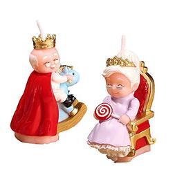 Birthday Candle Creative Candles The King&Queen For Cake Top