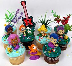Bubble Guppies 19 Piece Birthday Cupcake Topper Set Featurin
