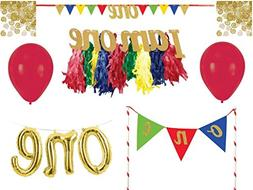 Creative Converting 1st Birthday Party Boy Decoration and Ca