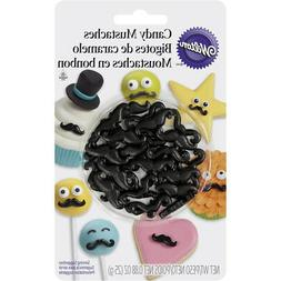 black edible candy mustaches