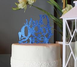 All About Details Blue Cheers to 90 Years! Cake Topper