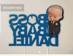 Boss Baby Boy Cake Topper Party Decoration Centerpiece