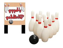 Bowling Happy Birthday Banner and Mini Miniature Bowling Pin