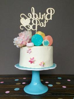 """Bride to be"" Bridal Shower Engagement Cake Topper Wedding P"