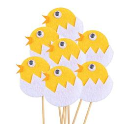 BESTOYARD Broken Eggshell Chicken Cake Toppers Cupcake Picks