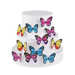 GEORLD Set of 100 Butterfly Cake & Cupcake Toppers Food Deco