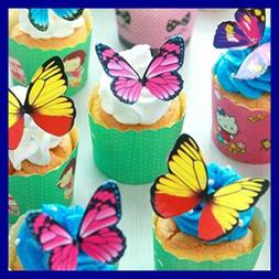 Butterfly Cake Toppers 100Pcs Set CHOCOLATE Mousse Cupcake D