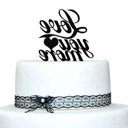 """Buythrow 6""""Acrylic Wedding Cake Topper Personalized Quote To"""