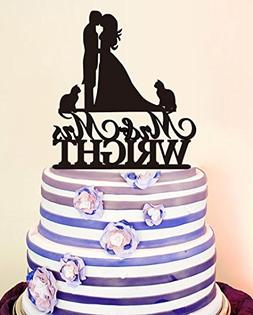 buythrow Kiss Bride and Groom Wedding Cake Toppers Mr and Mr