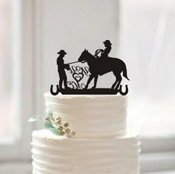 Buythrow® Country Western Wedding Silhouette Cake Topper Yo
