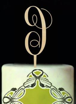Buythrow® Personalized Letter G Cake Topper Wooden Birthday