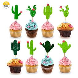 BTSD-home Cactus Cupcake Toppers for Cake Decorations Hawaii