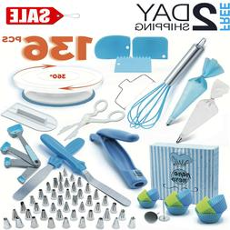 136 Set Cake Decorating Kit Supplies Pieces Kit Baking Tools