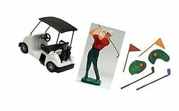 Cake Decorating Kit Golf with Cart Cup Cake Sports Toys NEW