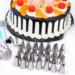 Cake Decorating Kit Set Tools Bags Piping Tips Pastry Icing