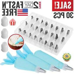Cake Decorating Kit Set Tools Bags Russian Piping Tips Pastr