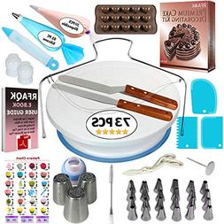 73 pcs Cake Decorating Supplies Kit for Beginners- Baking Su