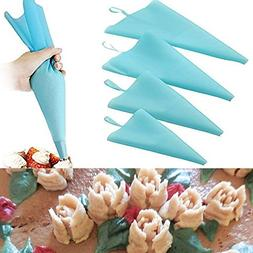 Cake Decorating Supplies: Pastry Bags Set of 4 Pcs Silicone