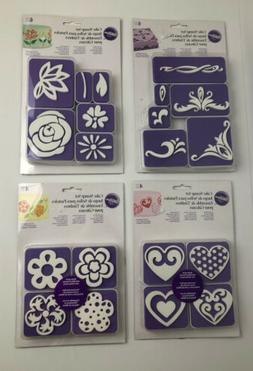 Wilton Cake Decorating Supplies Stamp Set Flowers Hearts Scr