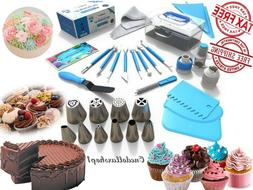 Cake Decorating Tools Set Kit 36 Tips Pastry Bags Nozzles Su
