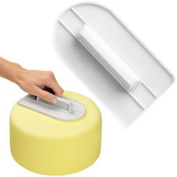 2pcs Cake Smoother Polisher Tool Cutter Decorating Fondant S