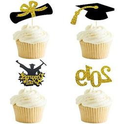 Cake Topper 2019 Graduation Decorations - Pack of 27, Real G