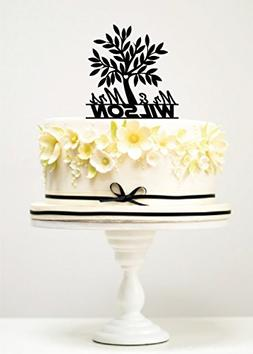 KISKISTONITE Cake Toppers Tree Mr & Mrs Wilson Custom Weddin